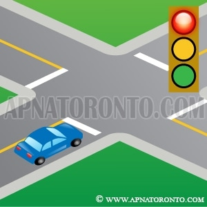 must STOP at red traffic signal light