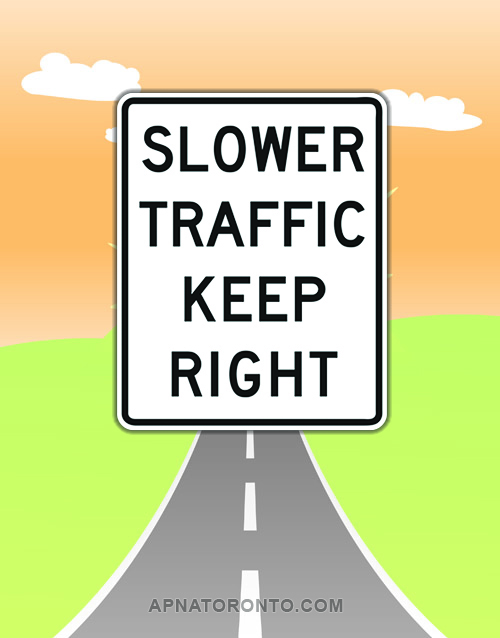 Slow traffic on multi-lane roads must keep right