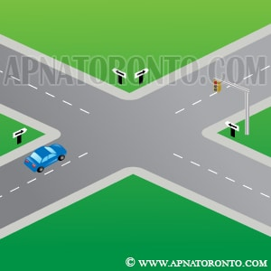 turning left onto a one-way road