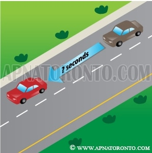 keep a safe distance behind the vehicle in front