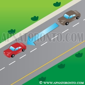 Stop within a safe distance