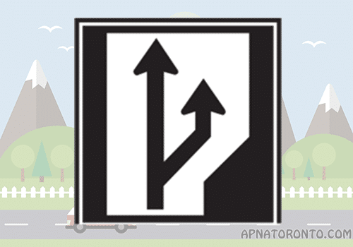 Two lanes ahead: both lanes travel in the same direction